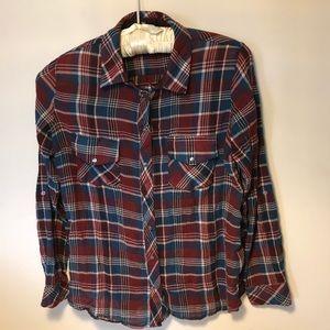 Kut From The Kloth Boylen Plaid Button Down Shirt